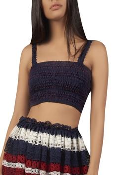 Lace work midi skirt