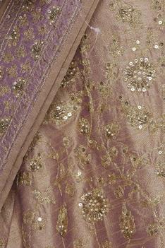 Zari & zardozi embroidered lehenga set with double dupatta