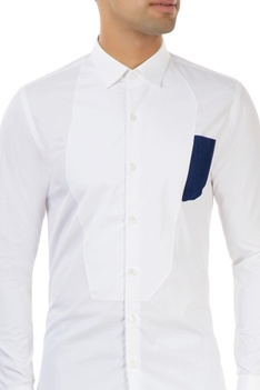 White shirt with panel detailing