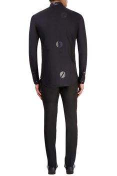 Black rubber printed shirt