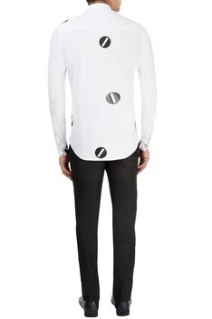 White rubber printed shirt
