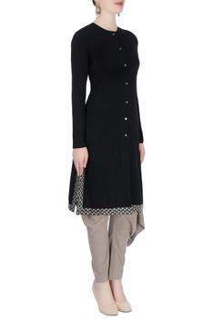 Black straight kurta set