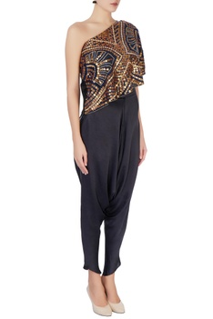 Multicolored coin top & dhoti pants