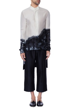 Black & white tie & dye shirt