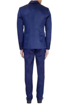Royal blue tuxedo jacket set