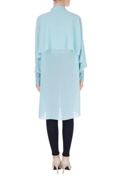 Pastel blue double layered shirt