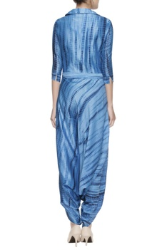 Blue dhoti style jumpsuit