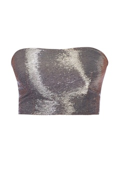 Grey black hued embroidered sari