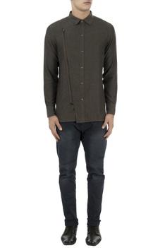 Brown zipper style shirt