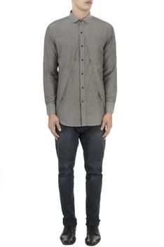 Light grey shirt with cutout layer