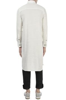 White cotton long kurta