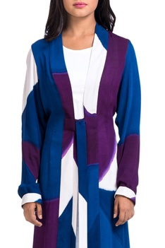 Multicolored jacket with tie up detailing