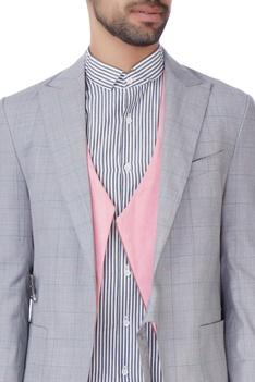 Grey checkered evening blazer