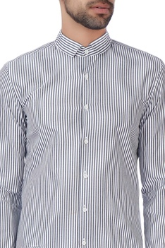 White & blue pinstripe formal shirt