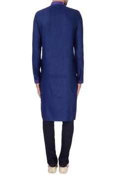 Blue textured with anchoring kurta