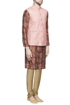 Light pink matka silk jacket