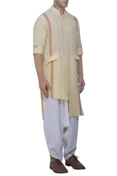 Yellow nehru style kurta