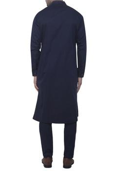 Blue drape style kurta