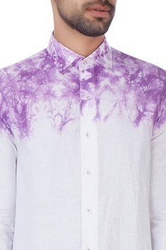 White tie & dyed shirt