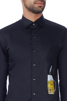 Black digital printed shirt
