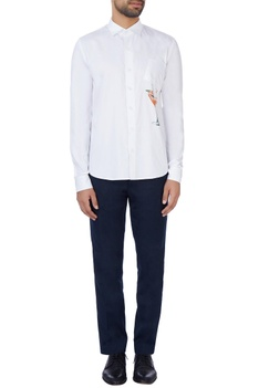 White digital printed shirt