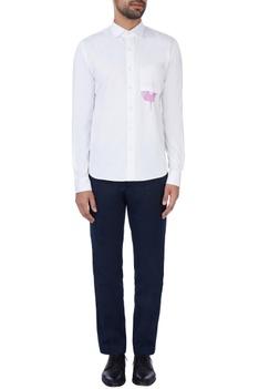 White doughnut printed shirt
