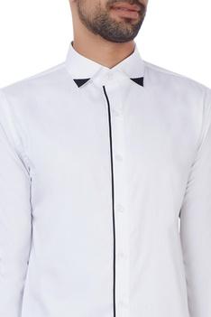 White black strip shirt