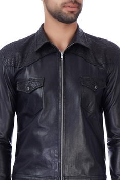 Matt black laser cut jacket
