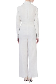 White wraped jumpsuit