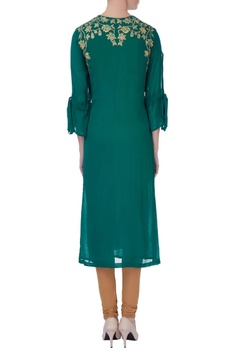 Green georgette kurta