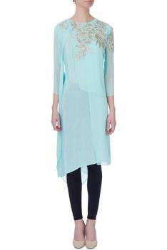 Light blue aari embroidered kurta