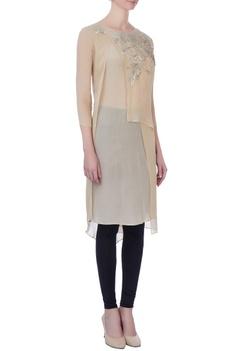 Light beige double layered kurta