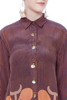 Multicolored printed tunic