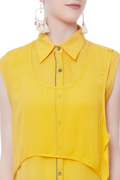 Yellow aline gerogette top