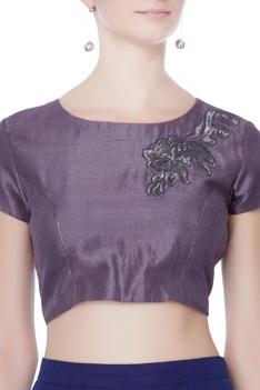 Purple kasab embroidered lehenga set