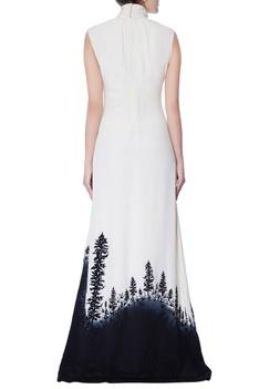 Black & white high neck gown