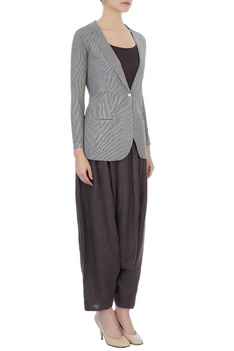 Chocolate brown moroccan pants & hand-woven jacket