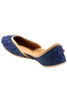 Navy blue cutdana work jootis
