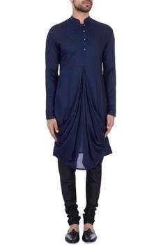 Royal blue modal cotton draped kurta