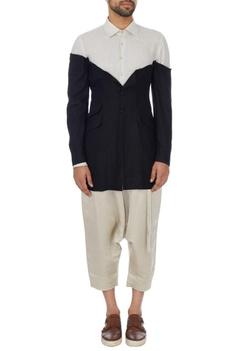 Black & white linen jacket