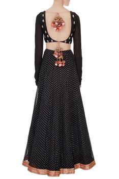 Black zardozi embroidered lehenga set