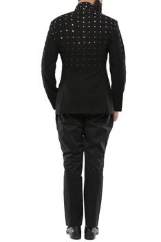 Black rivits jodhpuri jacket