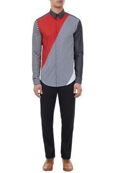 Multi-colored cotton striped shirt