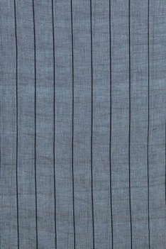 Pale blue cotton linen mirror work saree with blouse piece