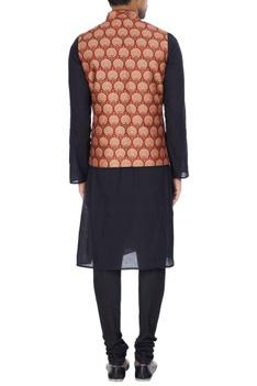 Multi-printed cotton nehru jacket