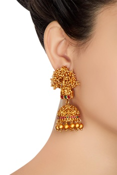 Goddess pattern earrings & necklace set