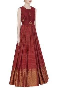 Long anarkali style printed gown