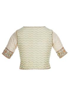 Jaipuri printed saree with gota blouse