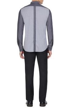 Grey cotton button down shirt