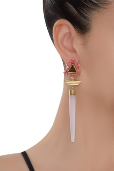 3D Pyramid Earrings
